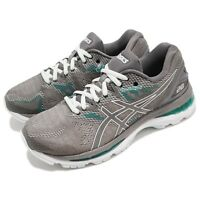 Asics Gel-Nimbus 20 Carbon Grey Green Women Running Shoes Sneakers T850N-020