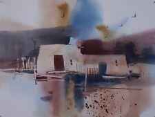 """ADOBE HOUSE"" original watercolor by American artist Micheal Jones"