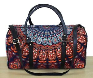 Indian Cotton Handmade Mandala Duffel Travel Bag Throw Ethnic Large Luggage Bag