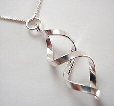 Double Helix Necklace 925 Sterling Silver Corona Sun Jewelry