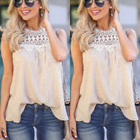 New Summer Crochet Vest Womens Ladies Halter Neck Sleeveless Casual Comfy Top
