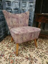 Chair Velvet Cocktail Chair Armchair Vintage 50er Years Upholstered Chair Retro