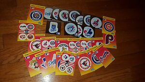 1991 Fleer Baseball Card Stickers Lot Cubs Indians Tigers etc.