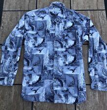 columbia mens large button up shirt Fishing Ducks Blue