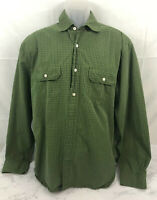 Magellan Sportswear Men's Long Sleeve Button Up Shirt Green Blue Plaid Size XL X