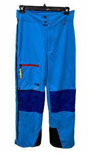 Vintage The North Face Retro 90s Colorblock Snow Ski Pants Blue Gore Tex Size M