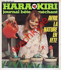 Hara Kiri n°199 du 04/1978 Avril Cabu Choron Nus