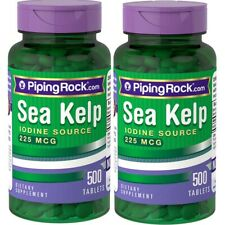 2Pack 225mcg Sea Kelp Iodine 500 Tablets Pills Thyroid Support Radiation Blocker