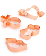 Martha Stewart Collection Set of 4 Cookie Cutters LOVE Theme Copper Plated