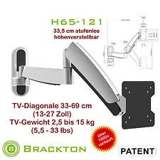 réglable en hauteur FIXATION MURALE POUR TV h65-121 13-27 pouces LED VESA 100 x