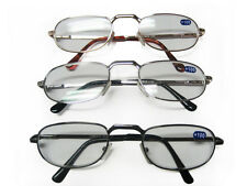 12 Pairs Men Metal Spring Loaded Reading Glasses  +1.0 +1.5 +2.0 +2.5 +3.0 +3.5