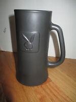 "Vintage PLAYBOY BUNNY Logo 6.25"" Heavy Pewter GLASS Mug"