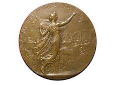 Art Nouveau IN EO PATRIAE SPES Marianne 1894 Bronze Medal by Alfred BORREL. M34