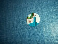 """1980 Moscow Tallinn Sailing Regatta 1 1/2"""" Button Made in the USSR by Norma LLA"""