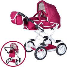 Knorrtoys Puppenwagen Salsa bordeaux rot Kinderwagen Puppe Sportwagen Tasche NEU