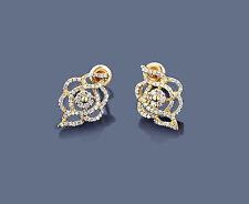 Ohrringe Ohrstecker Diamanten 585er Gelbgold  0,84 ct. Wesselton Brillanten Neu