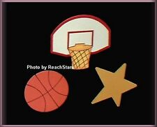 Basketball Metal Magnets Set Of 3 Embellish Your Story by Roeda™ Free U.S. Ship