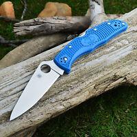 Spyderco Endura 4 Flat Ground Blue FRN Handle Knife VG-10 C10FPBL