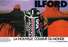 PUBLICITE ADVERTISING 1985 ILFOCOLOR  ILFOCOLORCHROME  films  (2 pages)