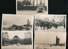 Germany WIESBADEN frozen winter scenes c1920/30s? x5 RP PPCs