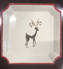 New ListingRoxy Reindeer Party Plates - Set of 4 plates - Stoneware - New
