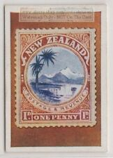 1930s Trade Ad Card - 1898 New Zealand One Penny Postage Stamp