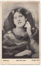 Miss Zena Dare, RP PPC, Bristol 1905 PMK, Glamorous Pose, By Davidson Bros
