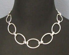 Premier Designs GILFORD Graduated Silver Plated Link Choker Necklace