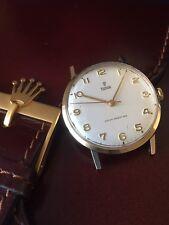 Elegant Large Vintage Rolex Tudor 9ct Solid Gold Men's Watch