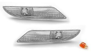 fit 07-09 MERCEDES Benz S-CLASS W221 CLEAR BUMPER SIDE LIGHTS Pair S550 S600