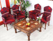 100x100 cm antik-look Massivholz orient Teetisch Tisch Couchtisch Afghanistan PJ