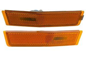 2007-2010 Lincoln MKX Front Bumper Side Marker Light Lamp Orange Reflectors OEM