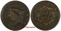 US Copper 1826 Coronet Head Large Cent 1C (17 076)