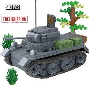 German Tank War Blocks Weapon Soldier Bricks Model World Series Toys Building