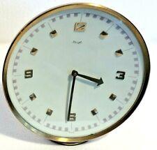 Vintage Kienzle Slimline Wind Up Brass Mantel 8 Day Clock - Working