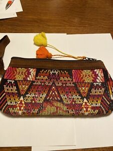 Nena & Co Ethnic Hippie Boho Mayan Bag wristlet Purse clutch