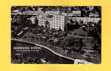 "Rppc Fort Lauderdale,Fl Florida Riverside Hotel airplane ""bird's eye view"" 1952"
