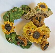 Boyds Bears & Friends Bearware Collection Pin / Brooch #01999-11 Sunflower Bloom