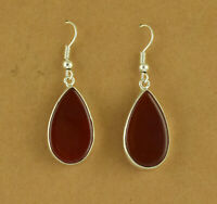 Red Onyx 925 Solid Sterling Silver Earring Dangle STUNNING Earring Fine Jewelry