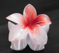 NEW Large Hawaiian Plumeria Red Flower Plastic Hair Jaws Clip Clamp Claw