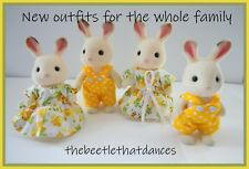 Sylvanian Families Clothes, New Outfit set A For a Whole Family, Rabbit,Cat  ETC