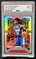 2019 Prizm SILVER REFRACTOR Clippers TERANCE MANN Rookie Card PSA 9 MINT Pop 63