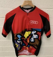 Pactimo Audi Cycling Jersey Men's Size M  Best Buddies Hearst Castle