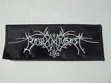 BORKNAGAR EMBROIDERED LOGO BLACK METAL PATCH