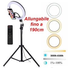 ANELLO CERCHIO LUMINOSO A LED CON TREPPIEDI LUCE PER TIK TOK RING LIGHT SELFIE