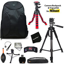 Well Padded Camera Backpack + 2 Tripods + KIT for  Nikon D3100