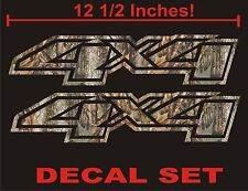 4x4 Truck Decals, REAL TREE CAMOUFLAGE  (Set) for Chevrolet Silverado CAMO CHEVY