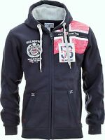 Felpa GEOGRAPHICAL NORWAY Uomo Men Fleece Full Zip Anapurna cappuccio Fambro