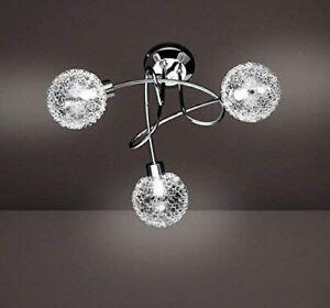 Wofi 3 Lights Ceiling Semi Flush Mount Light, Metal Chrome