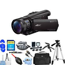Sony FDR-AX100 4K Ultra HD Camcorder #FDRAX100/B PRO BUNDLE BRAND NEW